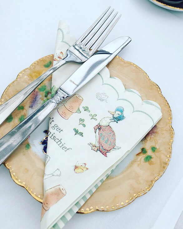 Peter Rabbit baby shower - afternoon tea