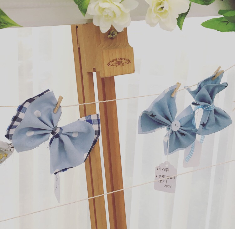 Peter Rabbit baby shower - Dickie bow tie making station