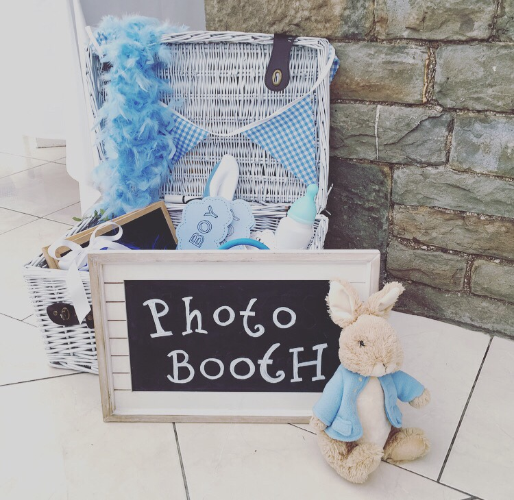 Peter Rabbit baby shower - themed photo booth