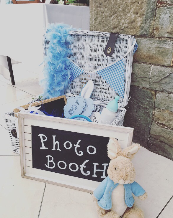 Peter Rabbit themed photo booth