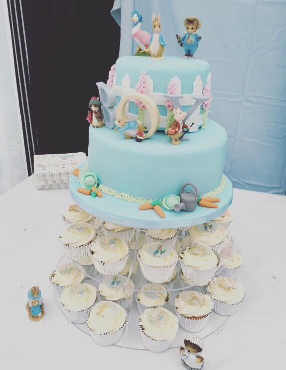 Peter Rabbit baby shower - cake