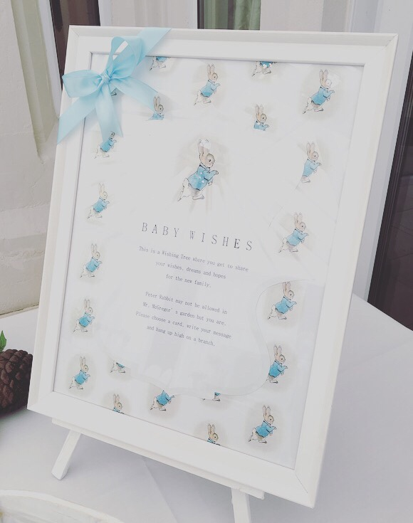 Peter Rabbit baby shower - wishing tree