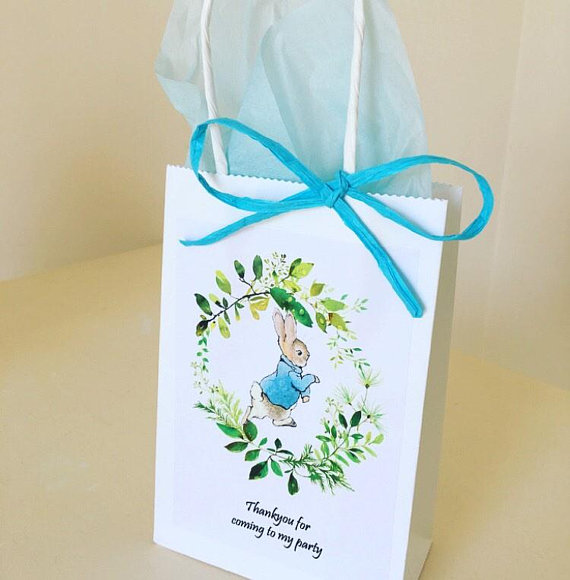 Peter Rabbit baby shower - Peter Rabbit party bags
