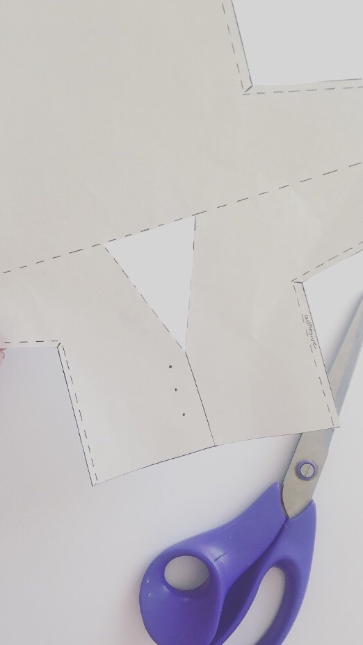 Step 1 - Cut out paper Peter Rabbit coat template