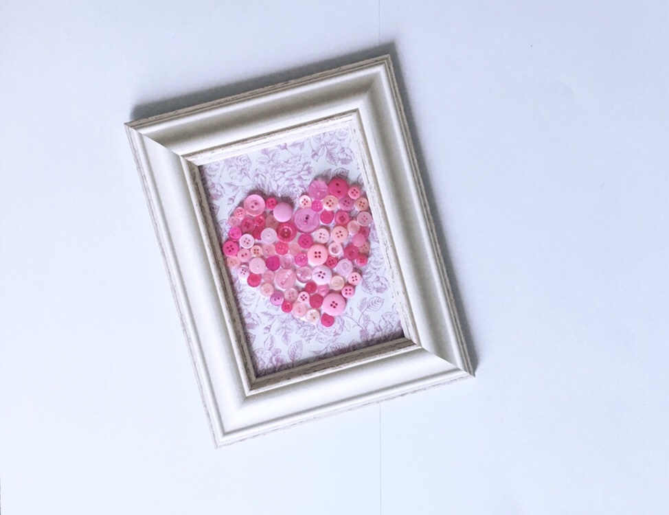 Button art heart diy tutorial