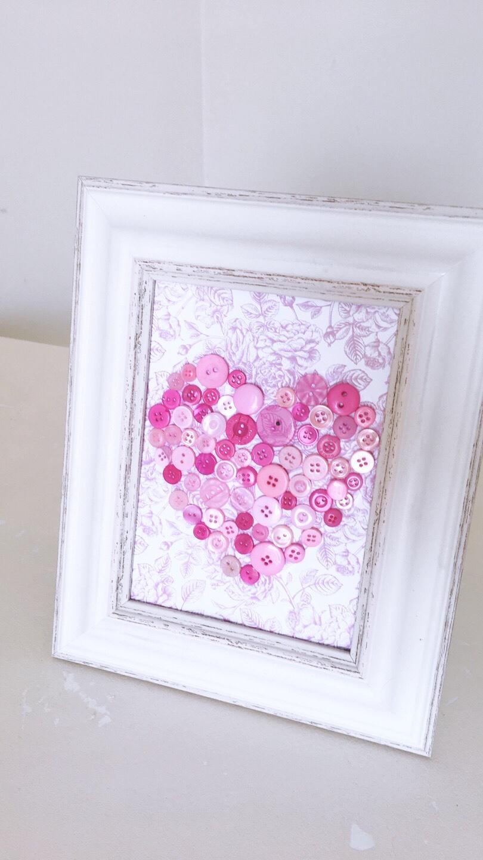 Button art heart diy tutorial
