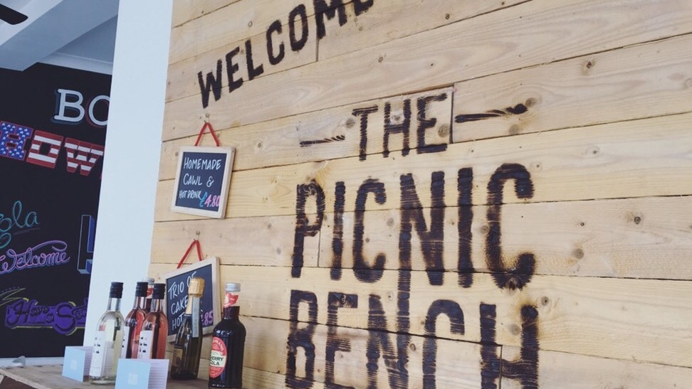 Welcome Sign at The Picnic Bench