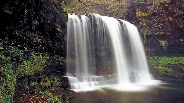 Sgwd-yr-Eira Waterfall, Brecon