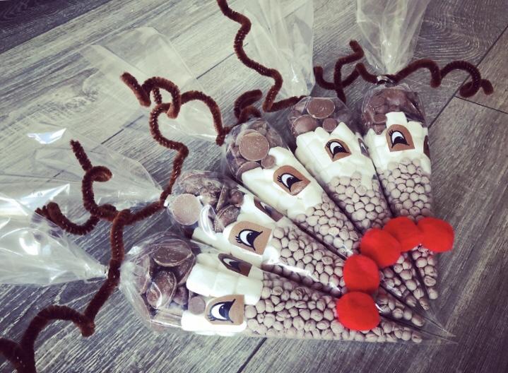 Reindeer Christmas Sweet Cones