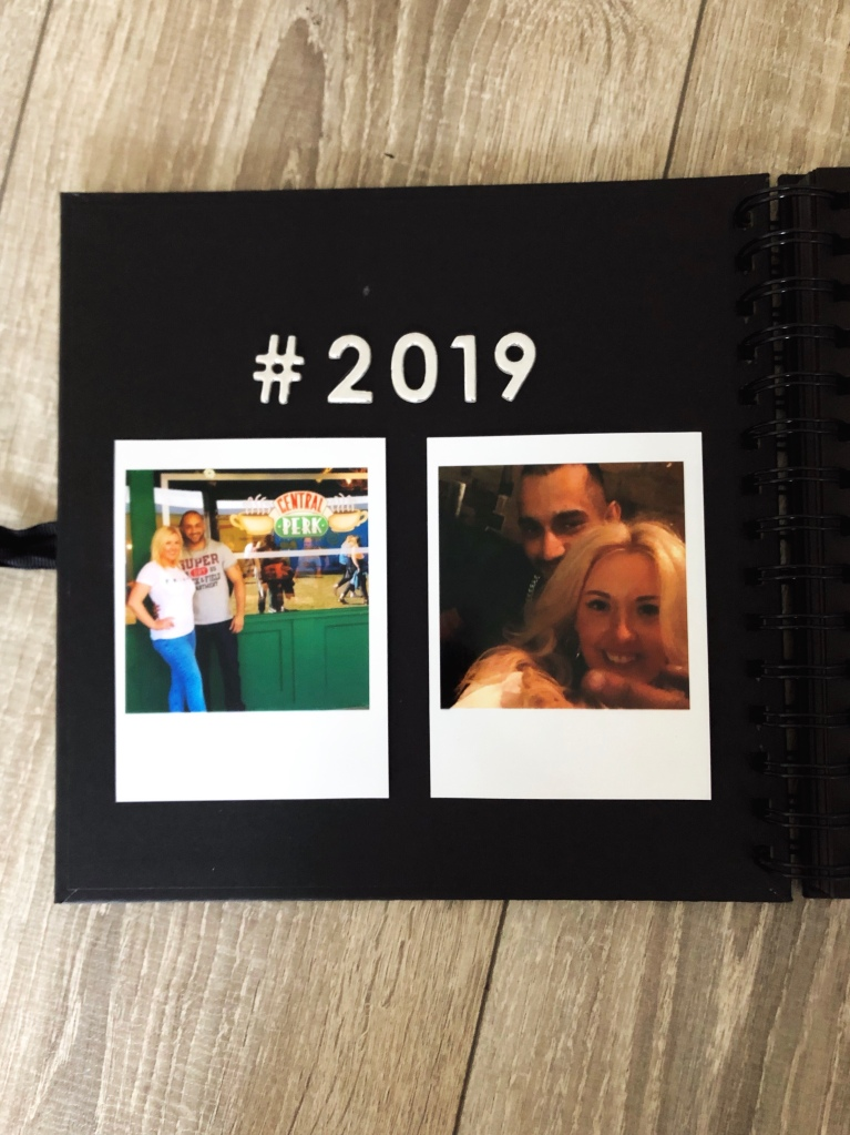 Year of Dates photo album gift - inside cover