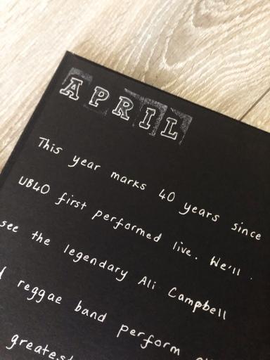Year of Dates photo album gift - April