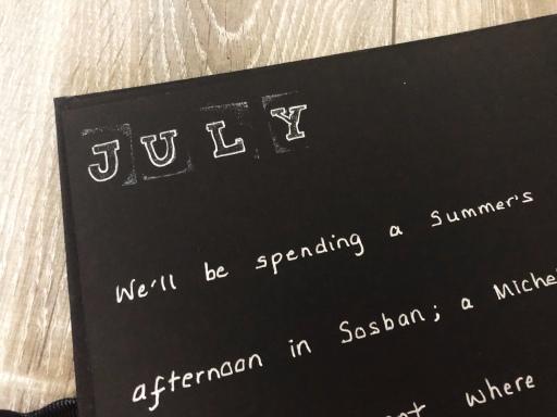 Year of Dates photo album gift - July