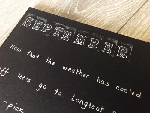 Year of Dates photo album gift - September