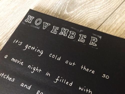Year of Dates photo album gift - November