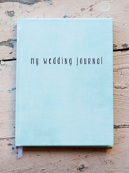 Blue wedding journal